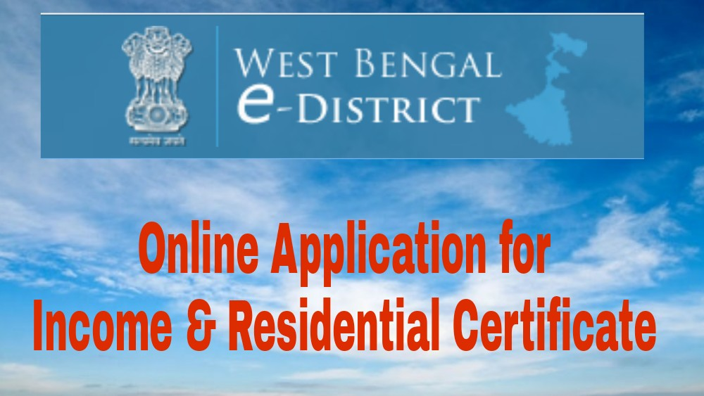 BDO Income Certificate Online Application - Domicile Certificate WB e-District 2