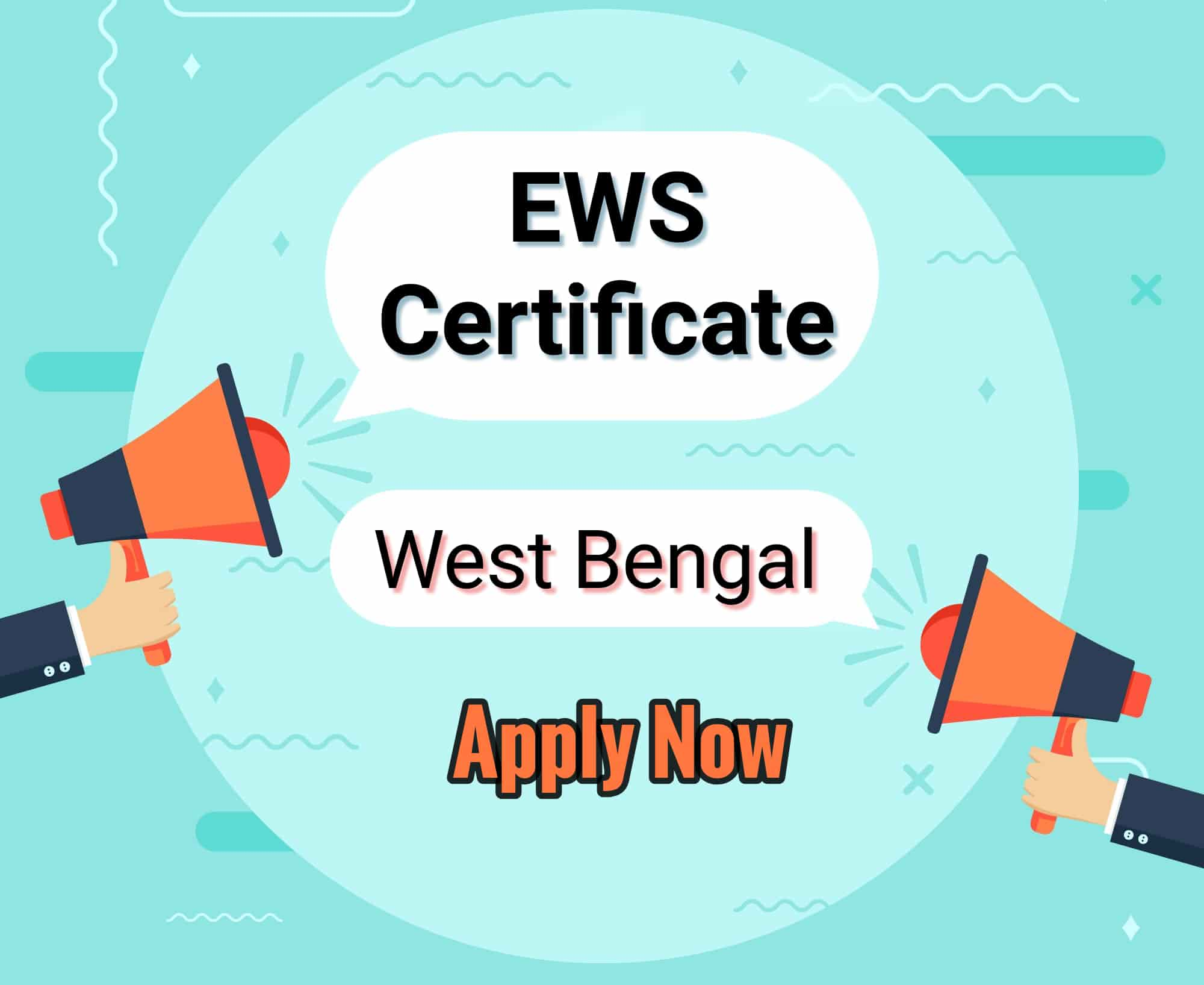 EWS Certificate West Bengal Application