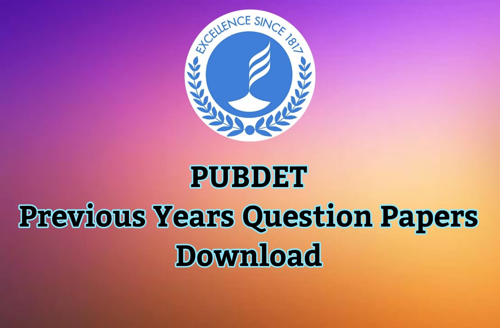 Download PUBDET Previous Years Question Papers - Presidency University 1