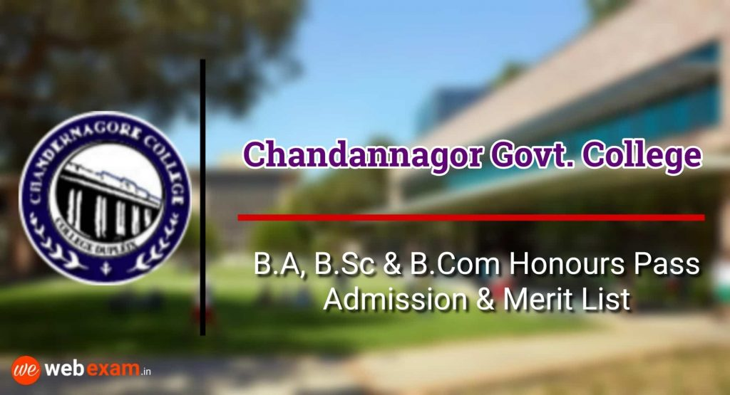 Chandernagore Government College Admission