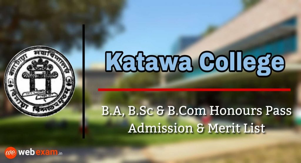 Katwa College Admisson Merit List