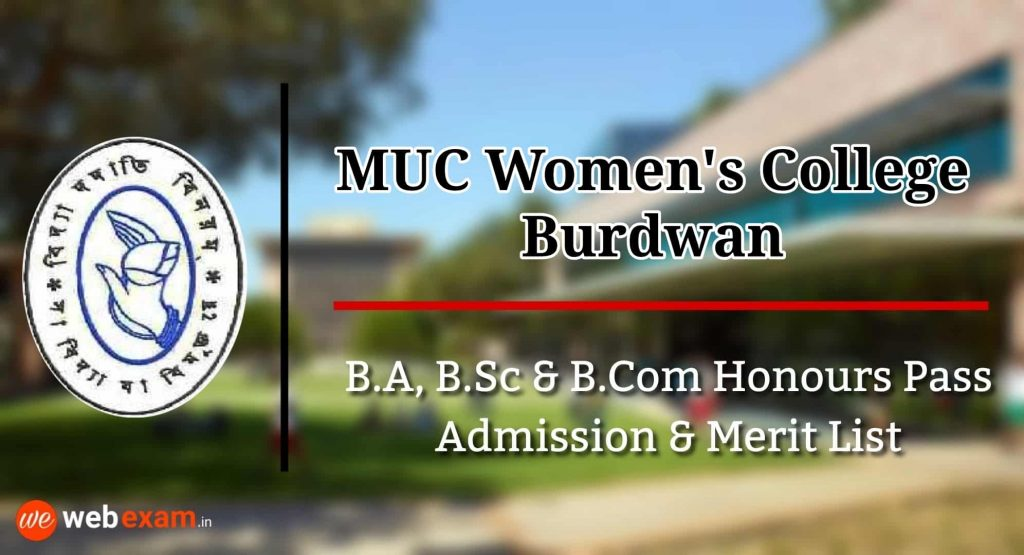 MUC Women's College Admission and Merit List Download
