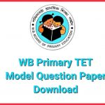 WB Primary TET Model Question Paper